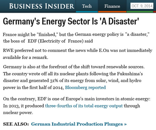 BusIns Germany's Energy Disaster