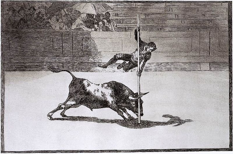 Η ταχύτητα και η τόλμη του Juanito Apiñani  (1815-16). Έργο του Francisco de Goya.