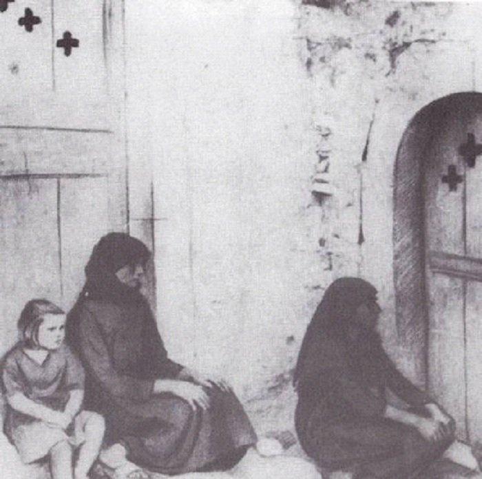 Στην Κρήτη 1945. «Όσοι μαύροι σταυροί στις πόρτες, τόσοι άντρες σκοτωμένοι. Κάποτε τέσσερεις και πέντε στην ίδια πόρτα.»
