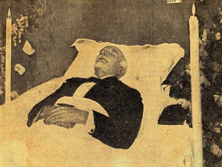 Ο Ελευθέριος Βενιζέλος στη νεκρική του κλίνη