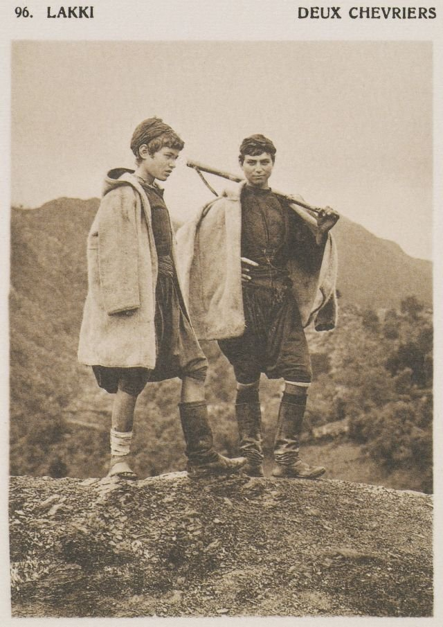 1919.Crete, Chania, Lakkoi, Young shepherds