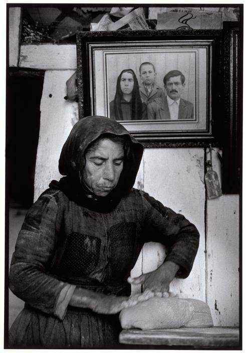 Constantine Manos - Kneading dough. Elounta. Crete. Greece. 1964
