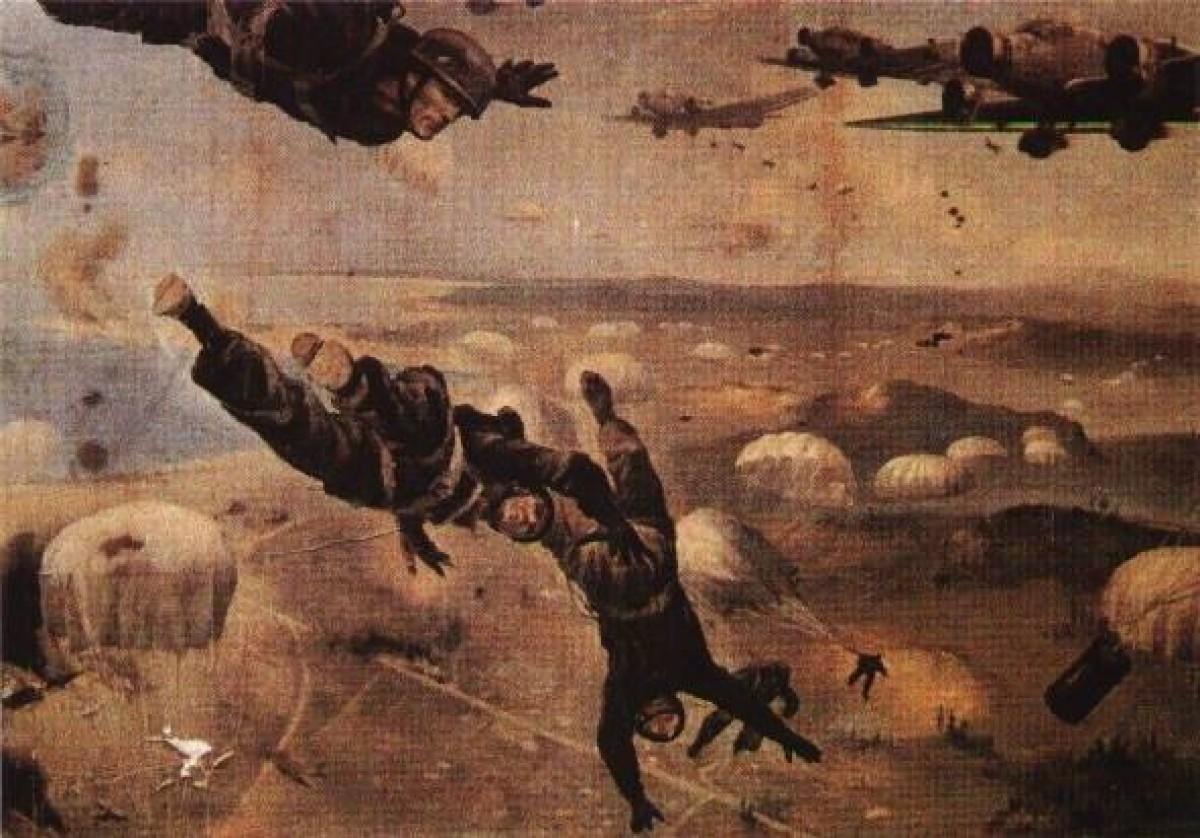 Προπαγανδιστική τέχνη από την Μάχη της Κρήτης