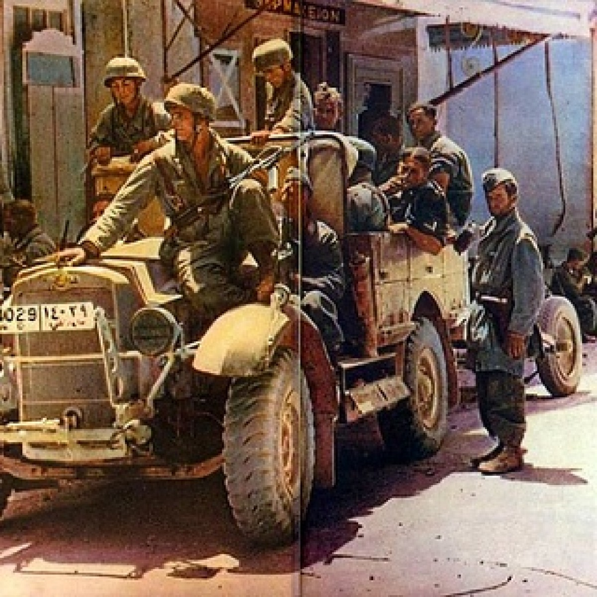 German Fallschirmjager during the invasion of Crete