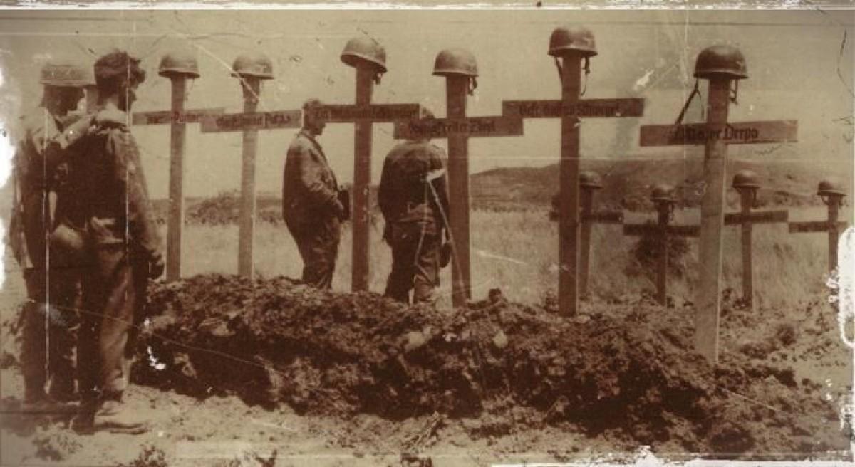cimetière de parachutistes ammemands en Crète en 1941