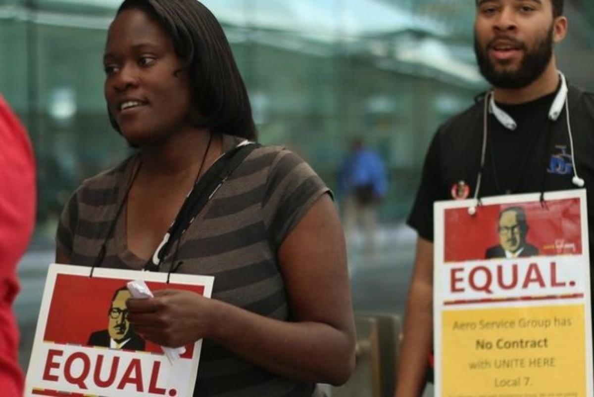 Διαδηλώσεις εργαζομενών στο αεροδρόμιο της Βαλτιμόρης κατά της Fraport | unite-here