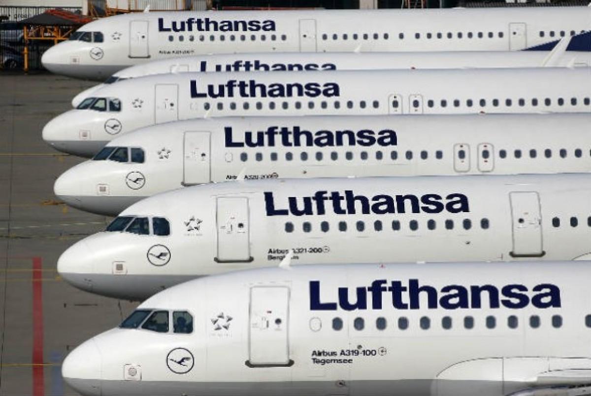 Αεροπλάνα της Lufthansa στη Φρανκφούρτη | AP Photo/Michael Probst
