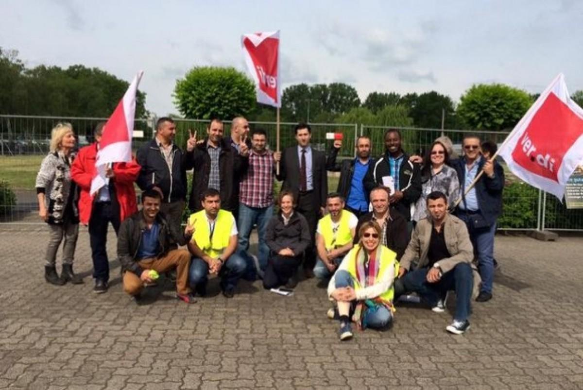 Συνάντηση Αμερικανων (Unite Here) και Γερμανών συνδικαλιστών (Verdi), το Μάιο 2015 στη Φρανκφούρτη, για το ζήτημα της Fraport | Unite Here