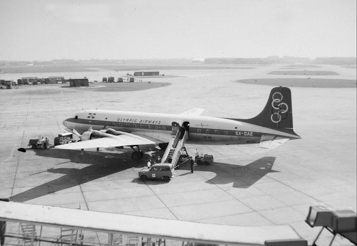 Douglas DC-6B SX-DAE old flag
