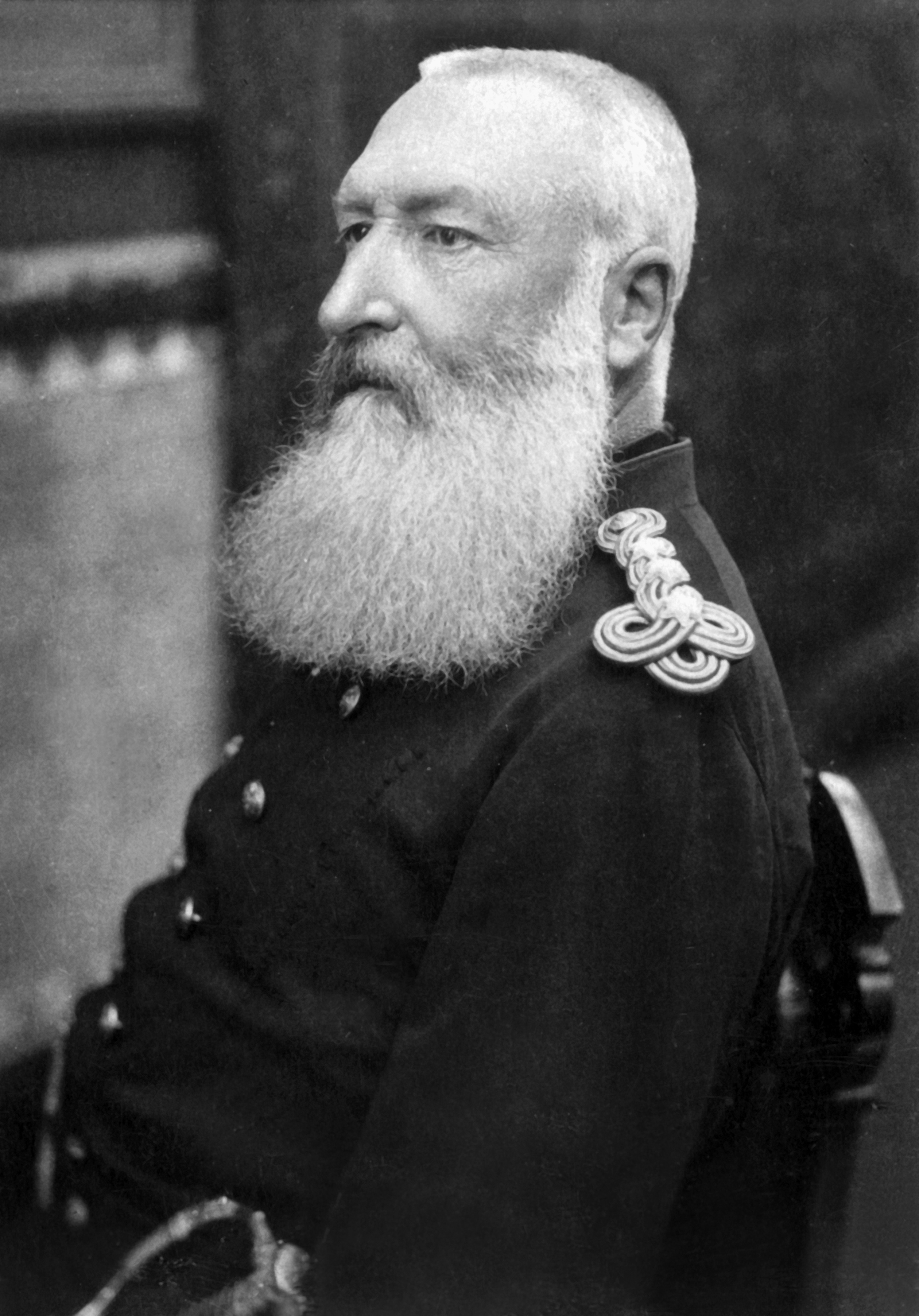 Leopold II king of the Belgians (1935-1909) King in 1865 when his father LeopoldI died, c. 1900 Felix Potin collection