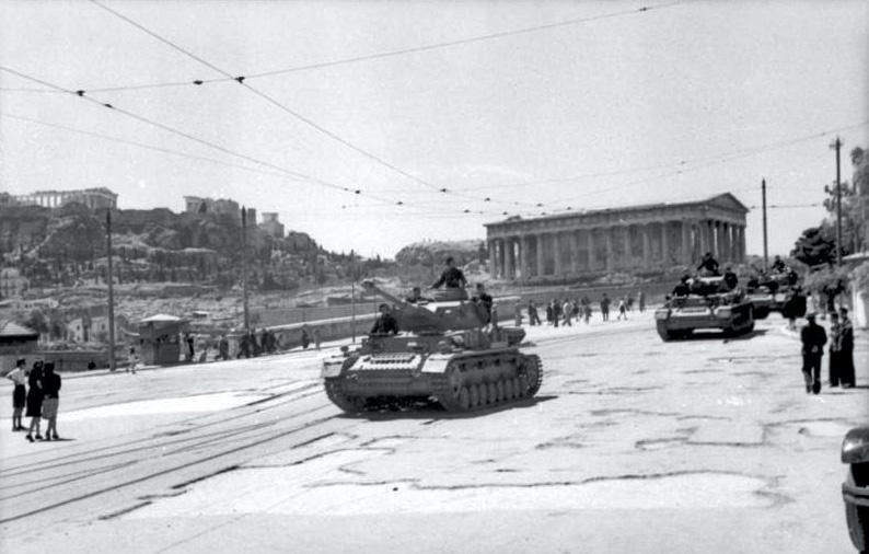 7.6.1943Panzer rollen durch Athen