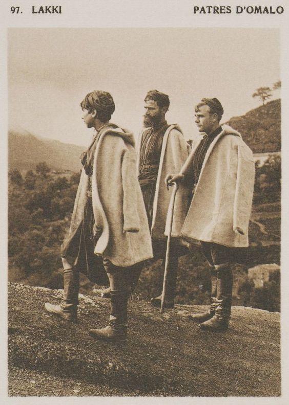 Βοσκοί από τον Ομαλό. Lakki. Patres d'Omalo. 1919 BAUD-BOVY, Daniel, BOISSONNAS, Frédéric