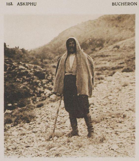 Ξυλοκόπος στο οροπέδιο Ασκύφου. Askiphu. Bucheron. 1919 BAUD-BOVY, Daniel, BOISSONNAS, Frédéric