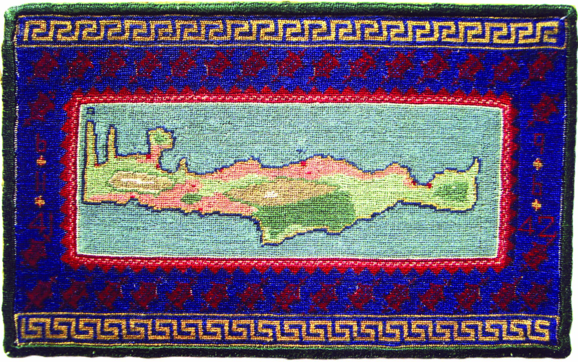 10 Map of Crete embroidery