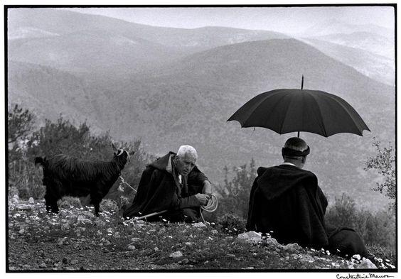 Constantine Costa Manos (1934 South Carolina) GREECE. Crete. 1964. Shepherds with goat