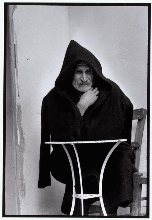 Constantine Costa Manos (1934 South Carolina) Greece. Crete. Pines. 1964. Man in shepherd's cape