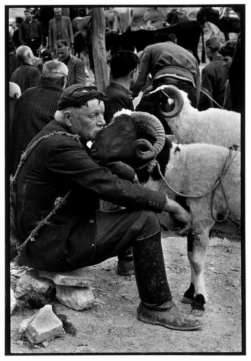 Crete. 1967. Shepherd at market. A Greek Portfolio p.100 Costa Manos