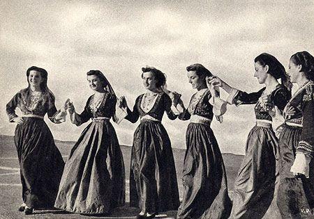 "Greek Postcard, c1956 (by alsis35) ""Crete Girls Dancing."""