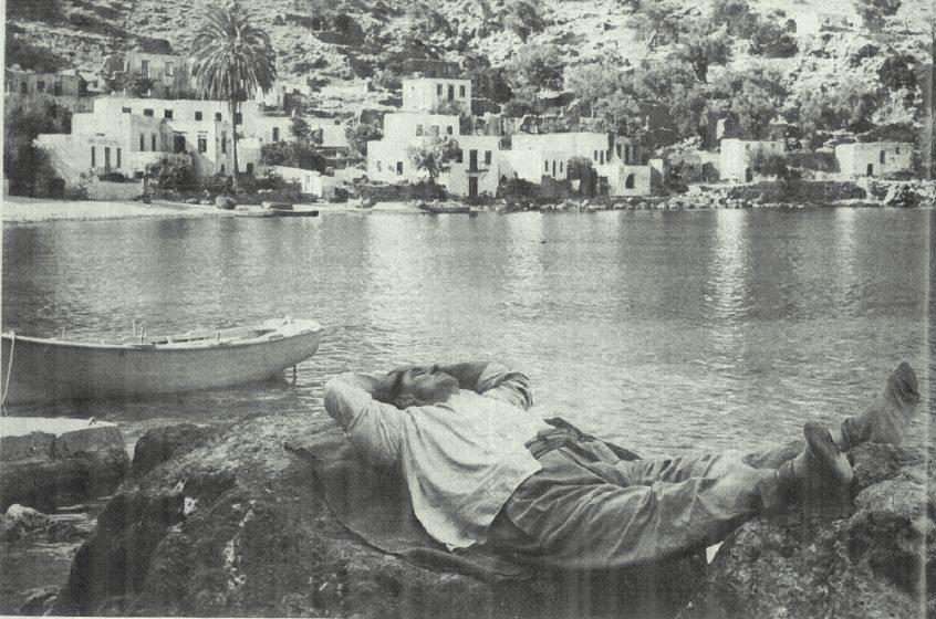 Fisheman's nap, loutro, sphakia, Winds of Crete....1974 by David MacNeil Doren
