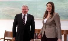 Συνάντηση της Προέδρου της Βουλής με τον Σήφη Βαλυράκη, διατελέσαντα πρόεδρο της Εξεταστικής για την υπόθεση Siemens