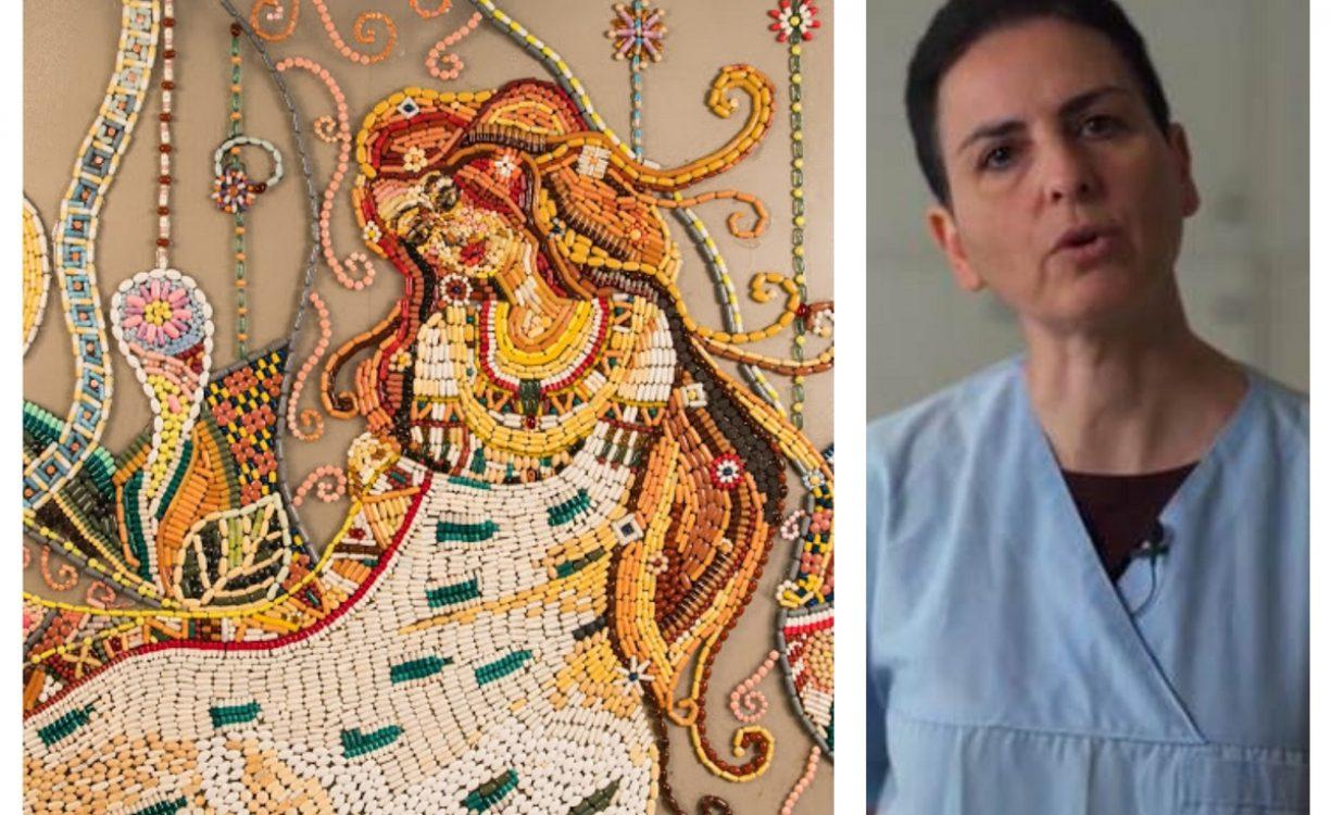 """""""ΧΑΠΙ END"""": Ελένη Ιωαννίδου, η γιατρός στο Ρέθυμνο που φτιάχνει έργα τέχνης με ληγμένα χάπια"""